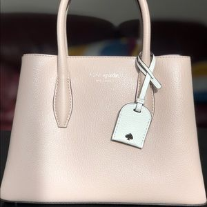 Kate Spade rose pink small satchel. NEVER USED.